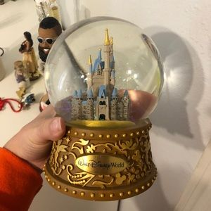Disney world music snow globe